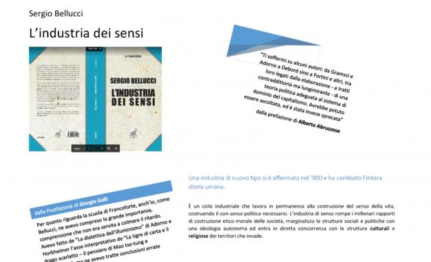 L'Industria dei sensi, nuovo libro di Sergio Bellucci